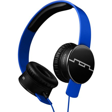 Sol Republic Tracks Headphones Electro Blue, 1-Button Mic (Republic Sol Tracks Headphones V8)