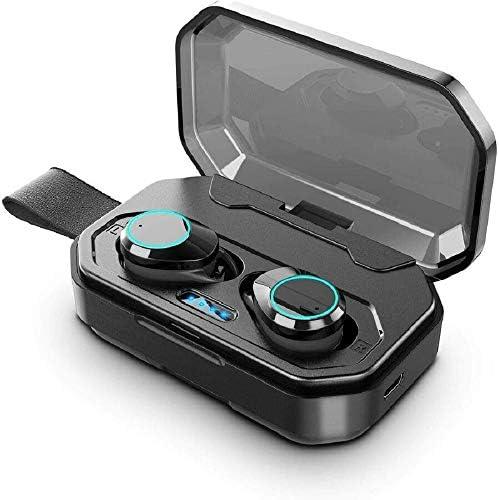 Chennong 充電ケースヘッドセット、内蔵マイクと500 mAhのバッテリーを搭載したAYDトゥルーワイヤレスステレオヘッドフォンTWSブルートゥースV5.0インイヤーイヤホン。