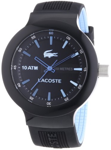 Lacoste Men's Borneo 2010719 Black Rubber Analog Quartz Watch
