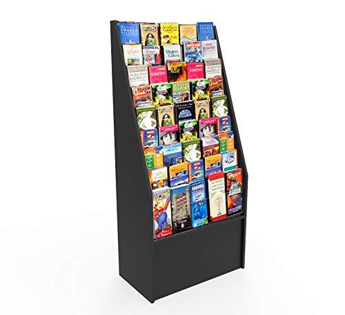 FixtureDisplays Literature Rack Brochure Holder Leaflet Coupon Stand Greeting Card Rack 1453Black