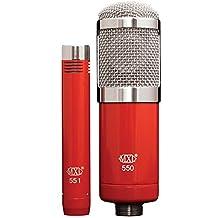 MXL 550/551R Microphone Ensemble (Red/Chrome)