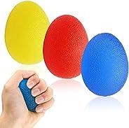 Hand Grip Strengthener Balls, Finger Exerciser Stress Relief Balls, Grip Strength Trainer(3 PCS),Forearm Grip