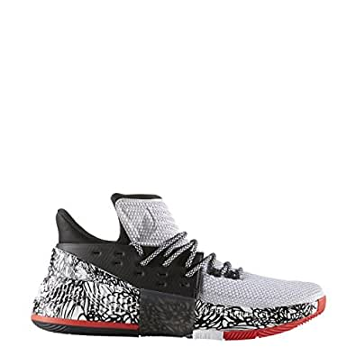adidas Dame 3 Shoe Men's Basketball 9.5 White-Core Black-Core Red