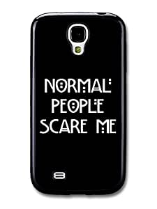 AMAF ? Accessories American Horror Story Murder House Normal People Scare Me Evan Peters Emma Roberts Quote case for Samsung Galaxy S4 wangjiang maoyi by lolosakes
