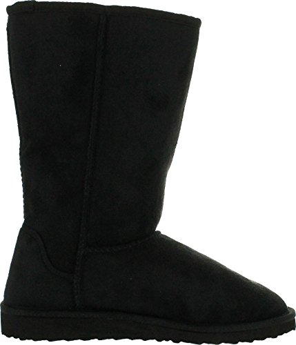 Image of SODA Women's Soong Comfort Faux Suede Fur Mid- Calf Flat Boot, NAT, 8 M US