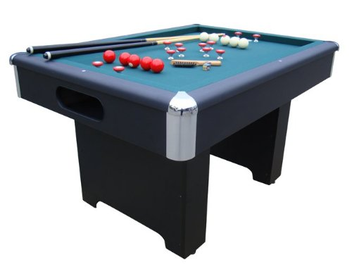 Slate Bumper Pool Table in Black by Berner Billiards