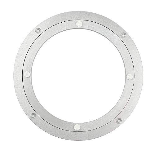 HomDSim Aluminio Metal Lazy Susan Hardware Rotacion giratoria de 360 ° Rodamientos Placa giratoria Placa giratoria en Muebles de Mesa de Comedor Hardware Placa giratoria Bandejas (Comun, 504mm)