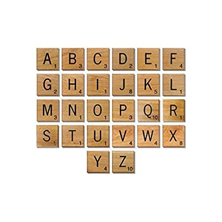 Gifts Arts /& Crafts Games Scrapbooking Spelling Trimming Shop 1pc Alphabets Letter A Individual Square Shaped Tiles Black Inked with Numbers for Children