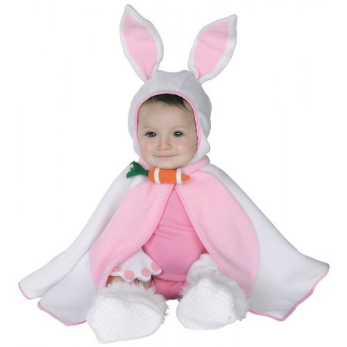 Baby Bunny Costume for Easter - Cape, Mittens, Booties