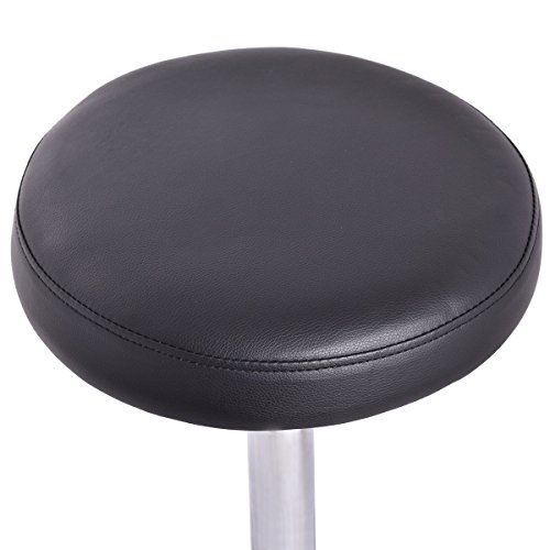 Good concept Set of 2 Tattoo Salon Stool Rolling Swivel Massage Height Adjust Facial Manicure Spa Adjustable Black Office Desk Hydraulic Chair by Good concept (Image #4)