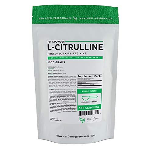 L-CITRULLINE Powder – Increase Performance -Nitric Oxide -Cardio 1000g