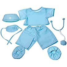 """Doctor """"Scrubs"""" Outfit Teddy Bear Clothes Fit 14"""" - 18"""" Build-A-Bear, Vermont Teddy Bears, and Make Your Own Stuffed Animals"""