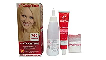 Color time, tinte en crema para el cabello de color super rubio 780