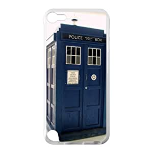 Doctor Who police box Custom Case for IPod Touch 5 TPU (Laser Technology)