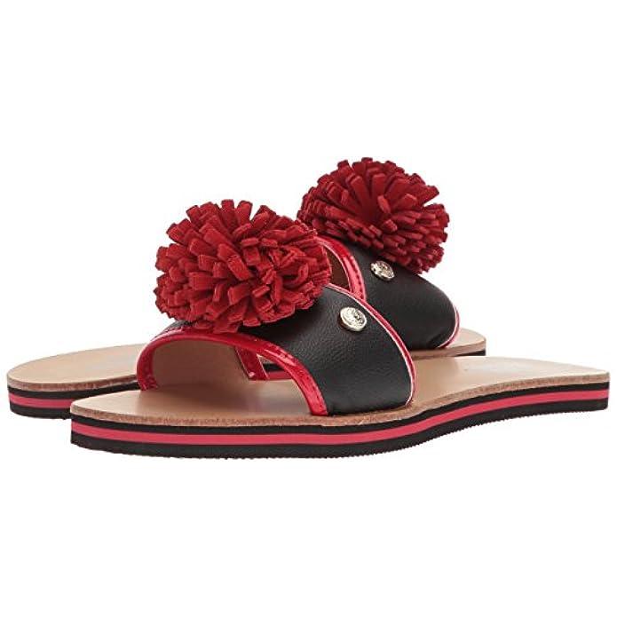 Scarpe E Borse Da Donna Sandali Moschino Ciabattina Love Con Pompon Rosso Ds18mo02
