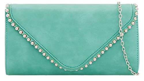 Turquoise Clutch Trim HandBags Bag Clutch HandBags Girly Studs Trim Studs Girly Bag wAaAx4qRnB