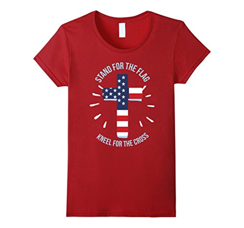 Stand-For-The-Flag-Kneel-For-The-Cross-Christian-Gift-TShirt