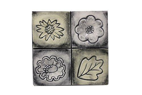 Mayco Clay Contemporary Flower Design Press Tool Set, 1-3/4 in Dia, Set of 4