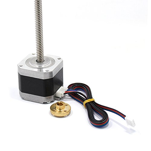 Kee Pang 300mm T8 Lead Screw Integrated with Nema 17 Stepper Motor 1.5A 48Ncm/69 oz.in 4-Lead W/800mm Cable and Connector for DIY 3D Printer Kits by kee pang (Image #3)