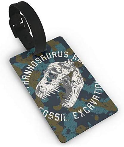 恐竜の頭蓋骨グラフィック着陸スーツケース荷物タグ旅行アクセサリー手荷物名札