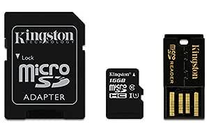 Kingston 16GB Multi Kit - Kit con Tarjeta microSD y adaptadores ...