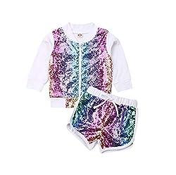 Multi-Colour Sequin Long Sleeve Zip Sweatshirt & Pants Set