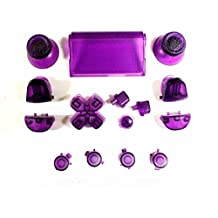 Replacement Full Buttons Custom Mod Kit Set for Sony Playstation 4 PS4 Controller (Clear Purple)