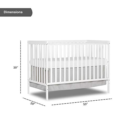 41IlusCKu2L - Dream On Me, Synergy 5-in-1 Convertible Crib, White
