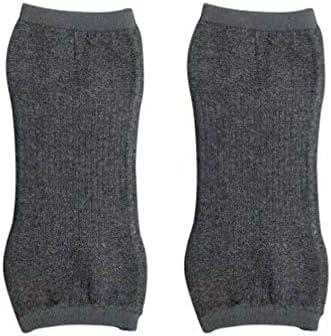Exceart 2 Stücke Winter Knie Ärmel Kaschmir Knie Warme Klammern Elastische Kurze Knieschützer Kaltem Wetter Knie Bein Ärmel für Männer Frauen Größe L
