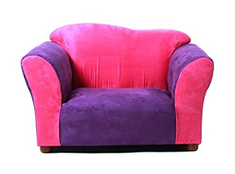 KEET Wave Kid's Chair, Pink/Purple (Chaise Purple)