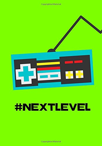 Next Level: Video Game Notebook Journal, 100 Pages Ruled, Alien Brains Green (Gamer Series) (Volume 2)