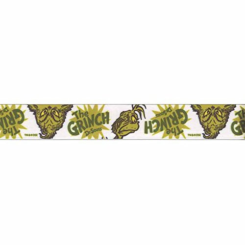 Grinch Green - Lion Ribbon 7/8in Dr. Seuss Grinch Ribbon Green,