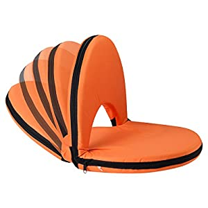 AceLife Stadium Seat Adjustable Recliner Cushion for Bleachers or Benches - Set of 2, Orange from AceLife