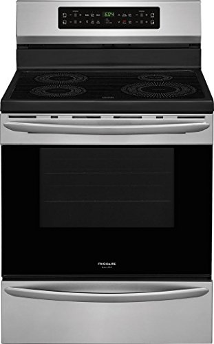 Frigidaire FGIF3036TF Gallery Series 30 Inch Freestanding Electric Range with 4 Elements, Smoothtop Cooktop, 5.4 cu. ft. Primary Oven Capacity, in Stainless Steel (Ge Induction Stove)