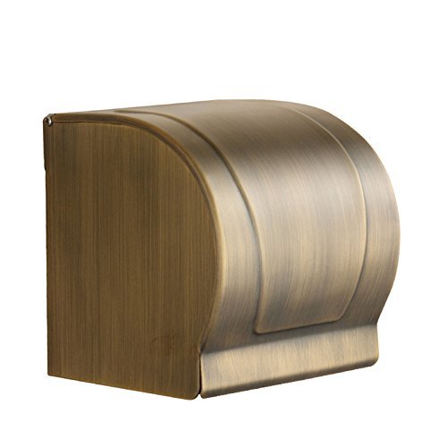 XY&XH Toilet Paper Holders Antique Brass Finish Brass Material All Cover Style Toilet Roll Holders
