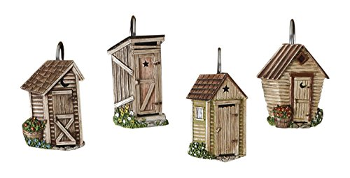 Designs Outhouse (Park Designs Outhouse Shower Curtain, Hook Set)
