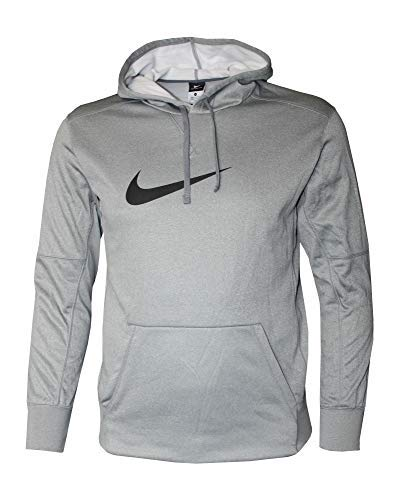 Nike Men's Pullover Dri-FIT Swoosh Hoodie Grey/Black (L)