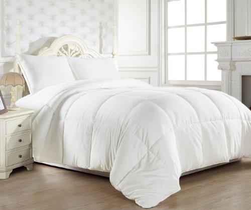 JR Home Super Soft White Down Duvet Cover Insert Alternat...
