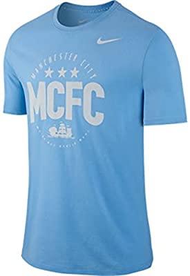 Nike Manchester City Core Type Soccer T-Shirt (Football Blue)