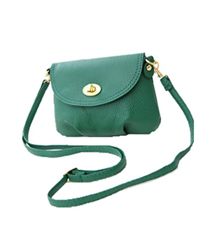 Ladies mini small handbag crossbody shoulder messenger bag, 7 colours Green