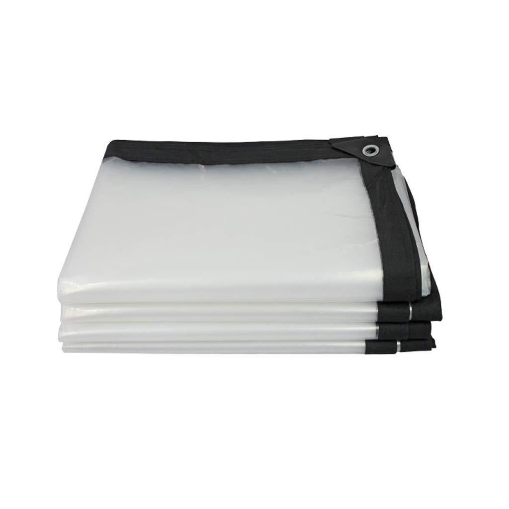 24m HCYTPL BÂche imperméable Transparente, bÂche Claire avec Oeillets, Tissu en Plastique Clair d'isolation de Serre 120G   M²,5  8m