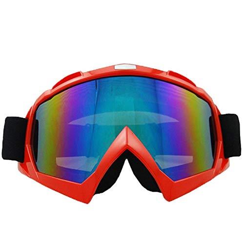 Sport de Homme Moto air Miroir Lunettes Cross Lunettes pour équitation Mjia Country en Lunettes Alpinisme Miroir sunglasses Plein de red qt4PEp