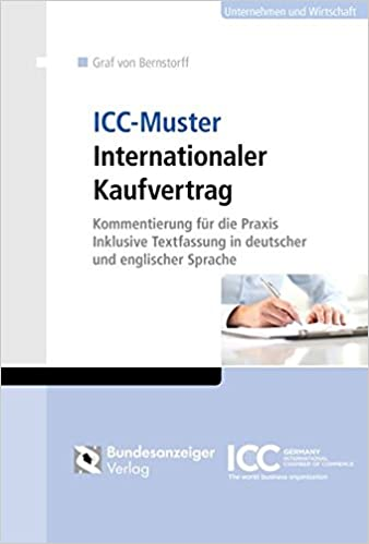 icc muster internationaler kaufvertrag 9783846208373 amazoncom books - Grundstckskaufvertrag Muster