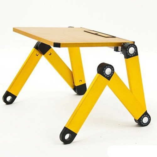 Qiaoba- The Couch aluminum alloy computer desk ,yellow Fold