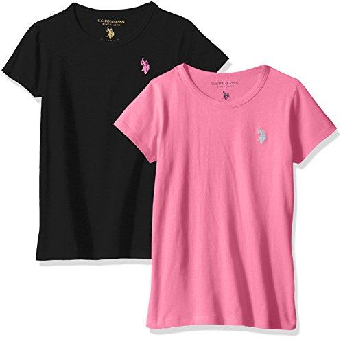 U.S. Polo Assn. Girls Crew Neck T-Shirt (Pack of 2)