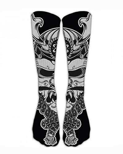 SARA NELL Japanese Samurai Warrior Compression Socks Soccer Socks High Socks Long Socks for Running,Medical,Athletic,Edema,Diabetic,Varicose Veins,Travel,Pregnancy,Shin Splints,Nursing.