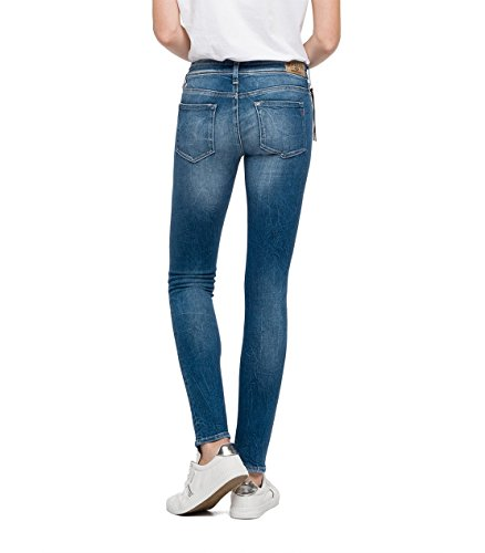 Donna Replay 9 Luz Coin denim Blu Jeans Zip Skinny PXBvpqXw