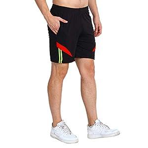 MRD DESIGNER HUB Men's Running Shorts – Pack of 3 ( Black, Navy Blue, Royal Blue , Free Size)