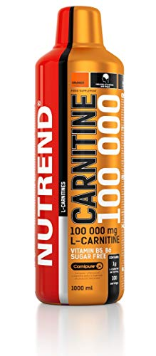 Nutrend CARNITINE 100 000 1000ml Orange Flavour Sports Taurine, Caffeine, Practical monodose, Green Tea Extract, Vitamins B1, B5 and B6, L-carnitine, Taurine, Chromium ()