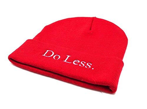 Red 'Do Less' Beanie -